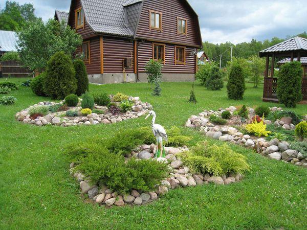 красивый сад легкого ухода